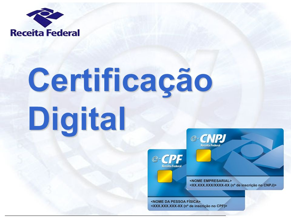 Certificado Digital Receita